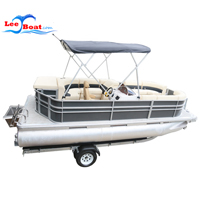 19FT Aluminum Pontoon Boat with Furniture