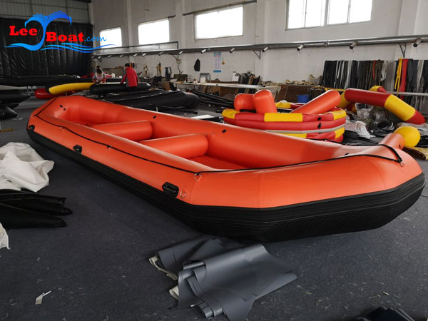 Orange Inflatable Rafting Fishing Boat
